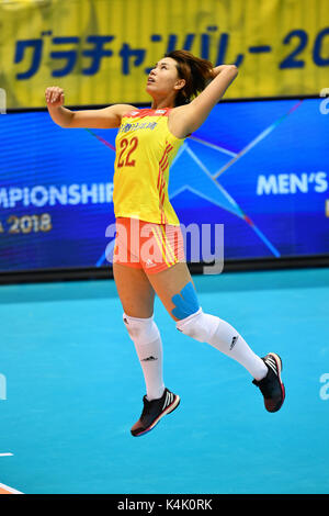Tokio, Japan. Credit: MATSUO. 6. Sep 2017. Zeng Chunlei (CHN) Volleyball: FIVB World Grand Champions Cup 2017 Frauen - Stockfoto