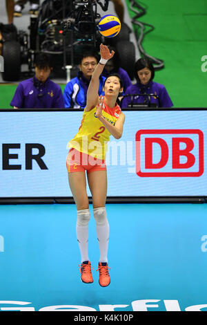 Tokio, Japan. Credit: MATSUO. 6. Sep 2017. Ting Zhu (CHN) Volleyball: FIVB World Grand Champions Cup 2017 Frauen - Stockfoto