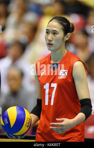 Tokio, Japan. Credit: MATSUO. 6. Sep 2017. Ha Jyejin (KOR) Volleyball: FIVB World Grand Champions Cup 2017 Frauen - Stockfoto