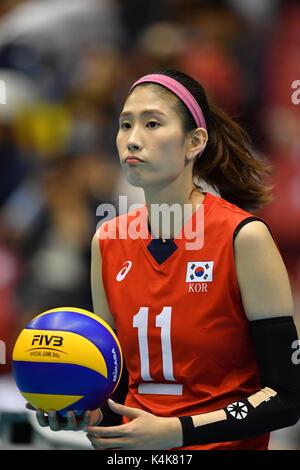 Tokio, Japan. Credit: MATSUO. 6. Sep 2017. Ji-su Kim (KOR) Volleyball: FIVB World Grand Champions Cup 2017 Frauen - Stockfoto