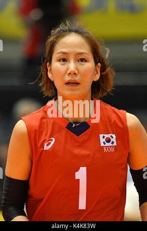 Tokio, Japan. Credit: MATSUO. 6. Sep 2017. Lee Jae-Eun (KOR) Volleyball: FIVB World Grand Champions Cup 2017 Frauen - Stockfoto