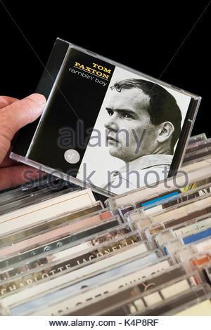 Ramblin' Boy, Tom Paxton 2 CD aus den Reihen der anderen CD's, Dorset, England ausgewählt werden, - Stockfoto