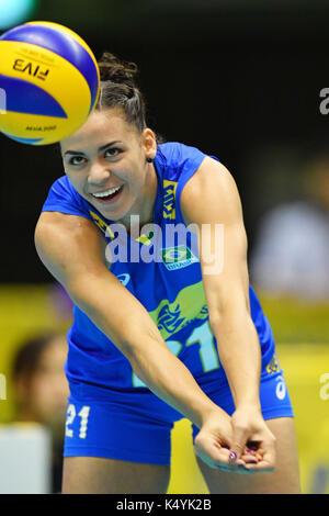 Tokio, Japan. Credit: MATSUO. 6. Sep 2017. Saraelen Leandro Ferreira Lima (BRA) Volleyball: FIVB World Grand Champions - Stockfoto