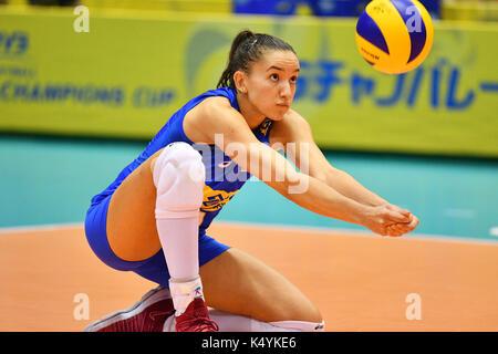 Tokio, Japan. Credit: MATSUO. 6. Sep 2017. Gabriela Braga Guimaraes (BRA) Volleyball: FIVB World Grand Champions - Stockfoto