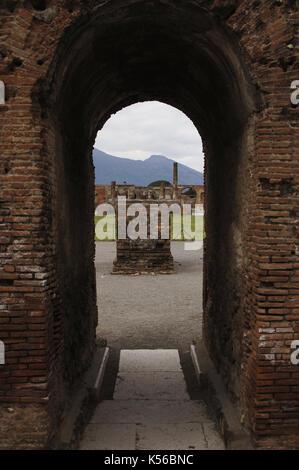 Italien. Pompeji. Die Ruinen. - Stockfoto