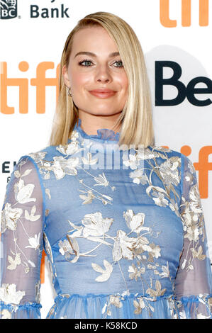 Toronto, Kanada. 08 Sep, 2017. Margot Robbie an der 'Ich, Tonya 'Premiere während der 42 Toronto International Film - Stockfoto