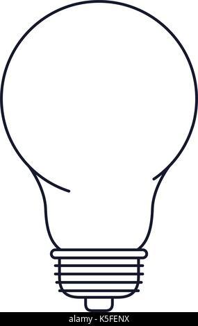 Lampensymbol in Schwarzweiß silhouette gepunktete Vektor Abbildung ...