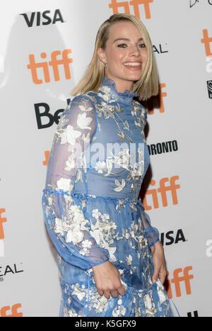 """Margot Robbie besucht die Premiere von 'ICH, Tonya"""" während der 42 Toronto International Film Festival, tiff, an - Stockfoto"""