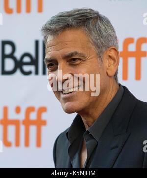 Toronto, Kanada. 9 Sep, 2017. George Clooney nimmt an der Amerikanischen Premiere des Films uburbicon' an der Prinzessin - Stockfoto