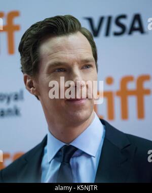 """Toronto, Kanada. 9 Sep, 2017. Schauspieler Benedict Cumberbatch besucht die Premiere des Films """"Der aktuelle Krieg' - Stockfoto"""