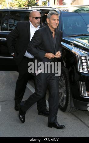 Toronto, Kanada. 09 Sep, 2017. George Clooney besucht die Premiere des uburbicon' während der 42 Toronto International - Stockfoto
