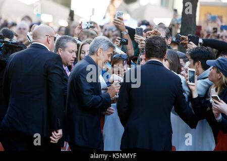 Toronto, Kanada. 09 Sep, 2017. George Clooney an Der uburbicon 'Premiere während der 42 Toronto International Film - Stockfoto