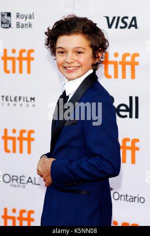 Toronto, Kanada. 09 Sep, 2017. Noah jupe Teilnahme an Der uburbicon 'Premiere während der 42 Toronto International - Stockfoto