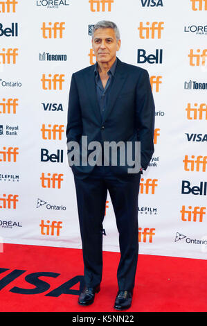 Toronto, Kanada. 09 Sep, 2017. George Clooney an Der uburbicon 'Premiere während der 42 Toronto International Film - Stockfoto