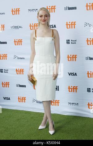 Toronto, Kanada. 10 Sep, 2017. Emma Stone bei der Ankunft für den KAMPF DER GESCHLECHTER Premiere auf dem Toronto - Stockfoto