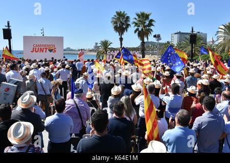 Barcelona, Spanien. 11 Sep, 2017. Eine allgemeine Ansicht der Präsident der Ciutadans Fraktion Albert Rivera sprechen - Stockfoto