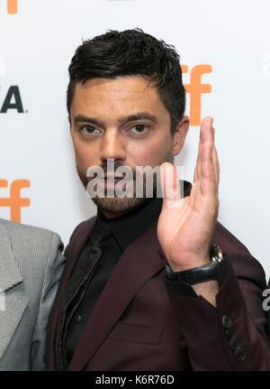 """Toronto, Kanada. 12 Sep, 2017. Dominic Cooper besucht die Premiere von """"Die Flucht"""", die im Rahmen der 42. Toronto - Stockfoto"""