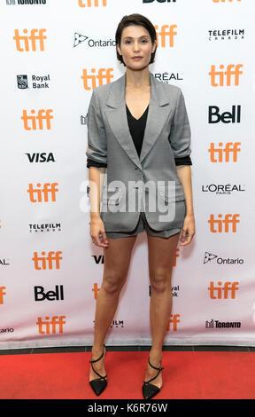 """Toronto, Kanada. 12 Sep, 2017. Gemma Arterton besucht die Premiere von """"Die Flucht"""", die im Rahmen der 42. Toronto - Stockfoto"""