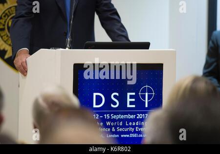 Excel, London, UK. 13 Sep, 2017. Verteidigung und Sicherheit equipment International (dsei), die Welten, die globale - Stockfoto