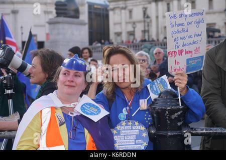 London, Großbritannien. 13 Sep, 2017. Hunderte Sorgen der Bürger Rally Kampagne und der Bedeutung der Gewährleistung - Stockfoto