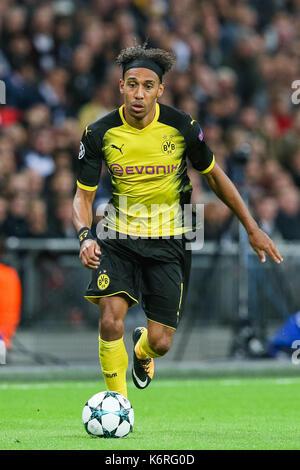 London, Großbritannien. 13 Sep, 2017. Pierre-Emerick Aubameyang (Dortmund) Fußball: Pierre-Emerick Aubameyang von - Stockfoto