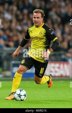 London, Großbritannien. 13 Sep, 2017. Mario Gotze (Dortmund) Fußball: Mario Gotze von Borussia Dortmund während - Stockfoto