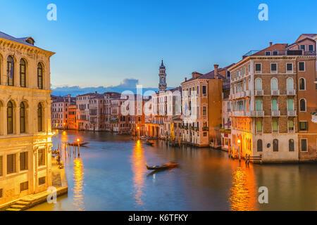 Venedig Sonnenuntergang Skyline am Grand Canal in Venedig (Venezia), Italien