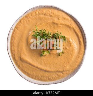 Chanterelle Suppe isoliert - Stockfoto