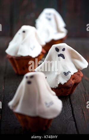 Halloween cupcakes Ghost - Stockfoto