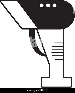 Kontur Barcode reader Technologie mit Laser Scan - Stockfoto