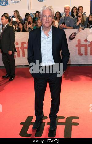 """Toronto, Kanada. 15 Sep, 2017. Richard Gere besucht die Premiere von """"Drei Christusse"""" während der 42 Toronto International - Stockfoto"""