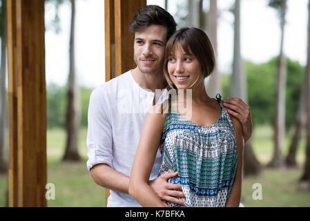 Junges Paar, Porträt - Stockfoto