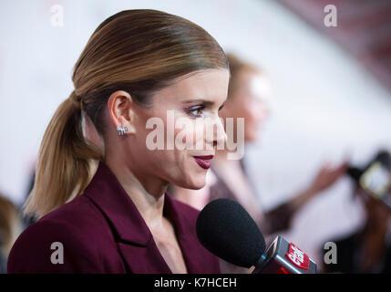 Toronto, Kanada. 15 Sep, 2017. Schauspielerin Kate Mara besucht die Weltpremiere des Films 'My Tage der Barmherzigkeit' - Stockfoto