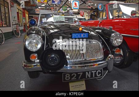 MGA Roadster (Polizei Spezifikation) 1960 - Lakeland Motor Museum, Backbarrow, Ulverston, Lake District, North West - Stockfoto