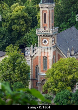Evangelische Pfarrgemeinde Salzburg Christus Kirche auf sasbach Fluss, Salzburg, Österreich. - Stockfoto