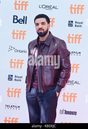 Toronto, Ontario, USA. 9 Sep, 2017. 09. September 2017 - Toronto, Ontario Kanada - Drake. 2017 Toronto International - Stockfoto