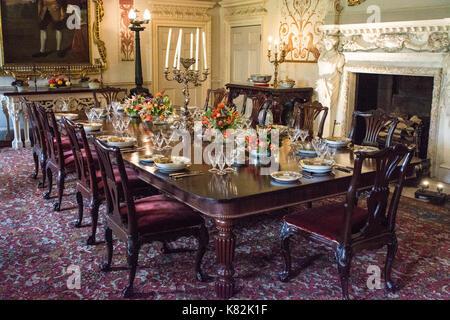 Gentil ... Regal Esszimmer In Englisch Herrenhaus, Yorkshire, England   Stockfoto