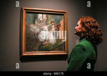 London, Großbritannien. 18 Sep, 2017. Drücken Sie die Taste Vorschau: eine Sammlung von Degas Kunstwerke aus dem - Stockfoto