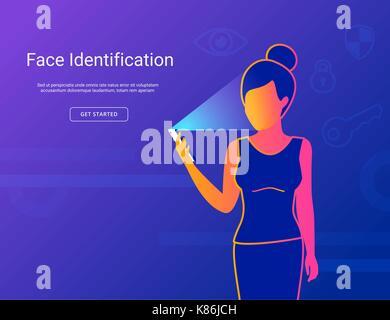 Gesicht der jungen Frau. - Stockfoto