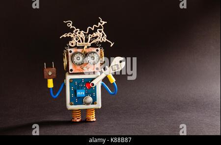 Kreative Gestaltung verrückten Roboter Spielzeug, elektrische Drähte ...
