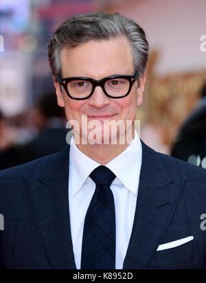 Colin Firth die Teilnahme an der Uraufführung von kingsman: Der goldene Kreis, bei Cineworld in Leicester Square, - Stockfoto