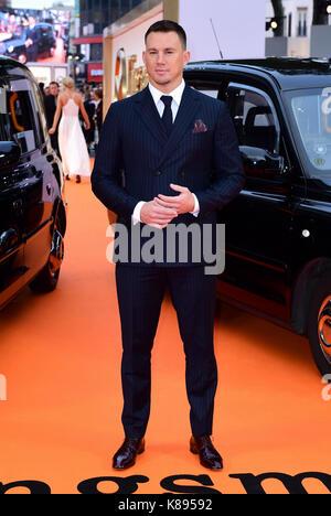 Channing Tatum die Teilnahme an der Uraufführung von kingsman: Der goldene Kreis, bei Cineworld in Leicester Square, - Stockfoto