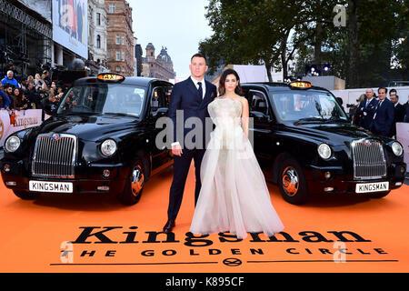 Channing Tatum und Jenna Dewan Tatum die Teilnahme an der Uraufführung von kingsman: Der goldene Kreis, bei Cineworld - Stockfoto