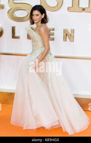 London, Großbritannien. 18 Sep, 2017. Jenna Dewan besucht die KIngsman: Der goldene Kreis Welt Film Premiere Credit: - Stockfoto
