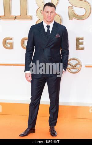 London, Großbritannien. 18 Sep, 2017. Channing Tatum besucht die KIngsman: Der goldene Kreis Welt Film Premiere - Stockfoto