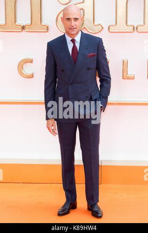 London, Großbritannien. 18 Sep, 2017. Mark Strong besucht die KIngsman: Der goldene Kreis Welt Film Premiere Credit: - Stockfoto