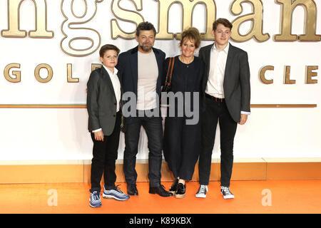 London, Großbritannien. 18 Sep, 2017. Andy Serkis, Kingsman: Der Golden Circle - Weltpremiere, Leicester Square, - Stockfoto