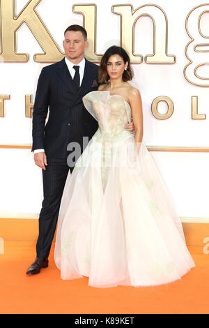 London, Großbritannien. 18 Sep, 2017. Channing Tatum, Jenna Dewan, Kingsman: Der Golden Circle - Weltpremiere, Leicester - Stockfoto
