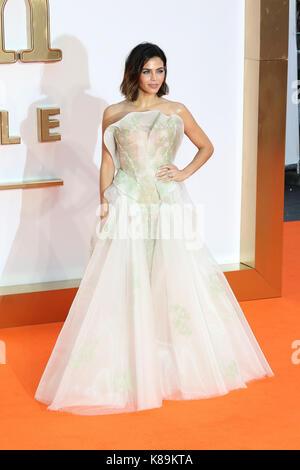 London, Großbritannien. 18 Sep, 2017. Jenna Dewan, Kingsman: Der Golden Circle - Weltpremiere, Leicester Square, - Stockfoto