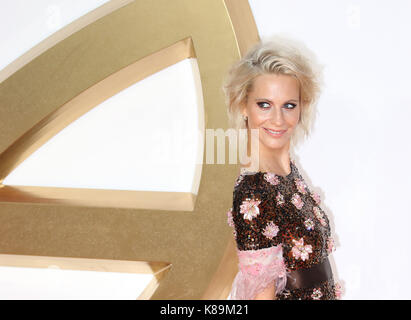 London, Großbritannien. 18 Sep, 2017. Poppy Delevingne, Kingsman: Der Golden Circle - Weltpremiere, Leicester Square, - Stockfoto